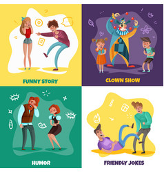 laughing people design concept vector image
