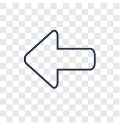 left direction concept linear icon isolated on vector image