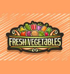 Logo for fresh vegetables vector
