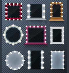 makeup mirror set vector image