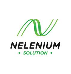 modern logo design letter n vector image