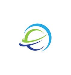 planet globe icon design vector image