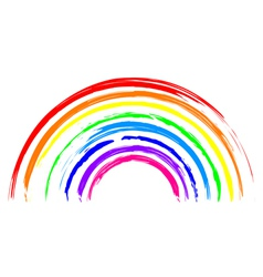rainbow icon vector image