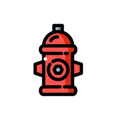 red fire hydrant vector image