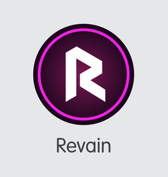 Revain cryptographic currency r icon vector