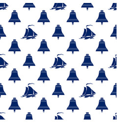 Seamless maritime pattern vector