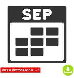 September Calendar Grid Eps Icon vector