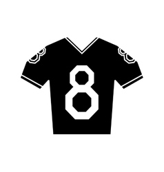 Silhouette jersey american football tshirt uniform vector