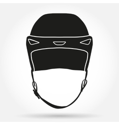 Silhouette symbol of classic goalkeeper ice hockey vector