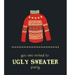 Sweater invitation vector