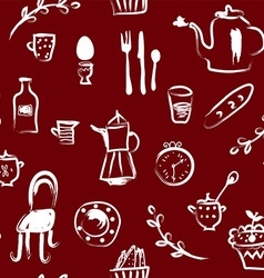 Tea time at the cafe seamless pattern - vector
