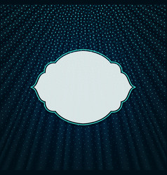 the frame on a blue textile background vector image