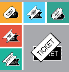 Ticket icon isolated vector