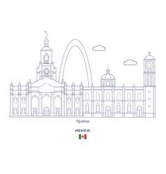 Tijuana city skyline vector