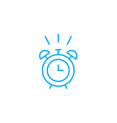 time to wake up linear icon concept time to wake vector image