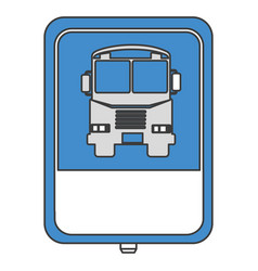 Traffic signal bus stop vector