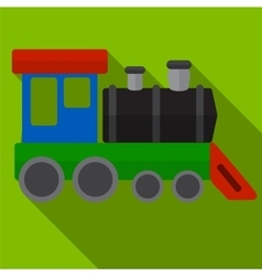 train flat icon vector image