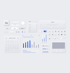 web ui kit mobile application and web page vector image