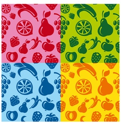 fruits patterns vector image