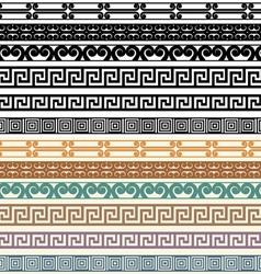 Greek Border Pattern Design Elements vector image