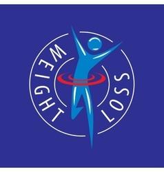 Logo running man for weight loss vector