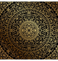 Black background oriental ornament vector