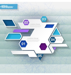 Blue and white infographic template vector image