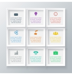 squares for infographic vector image