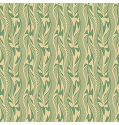 wavy plants ornament vector image