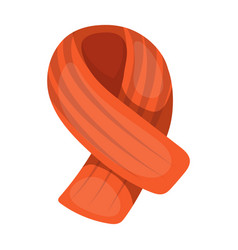 winter orange scarf for women and menscarves and vector image vector image