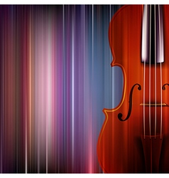 abstract blue music background with violin vector image