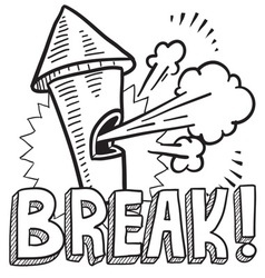 Break vector image vector image