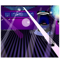 Night club interior vector image vector image