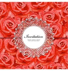 rose invitation vector image