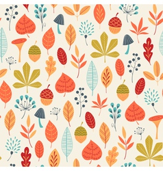 Autumn colors pattern vector image vector image