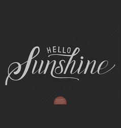 hand drawn lettering hello sunshine vector image