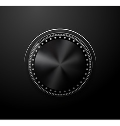 Volume knob vector image vector image