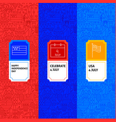 4 july package labels vector image