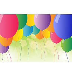 A set of colorful balloons vector