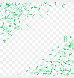 abstract background with falling green confetti vector image