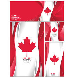Abstract canada flag background vector