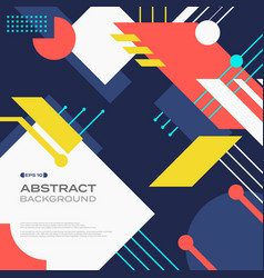 abstract of tech retro colorful pattern geometric vector image