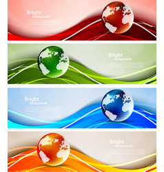 Background with globes vector image