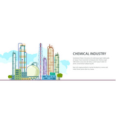 banner of petrochemical industry vector image