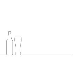 beer line vector image