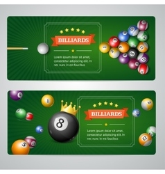 Billiards Baners Set vector