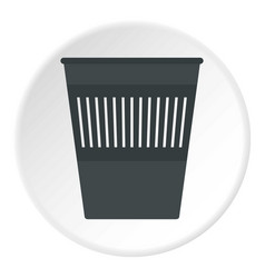 bin for papers icon circle vector image