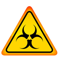 Biohazard warning sign vector image