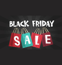 black friday sale over shopping bags background vector image