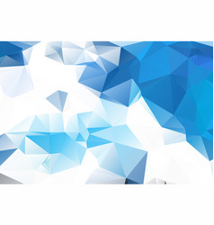 blue white geometric rumpled triangular low poly vector image